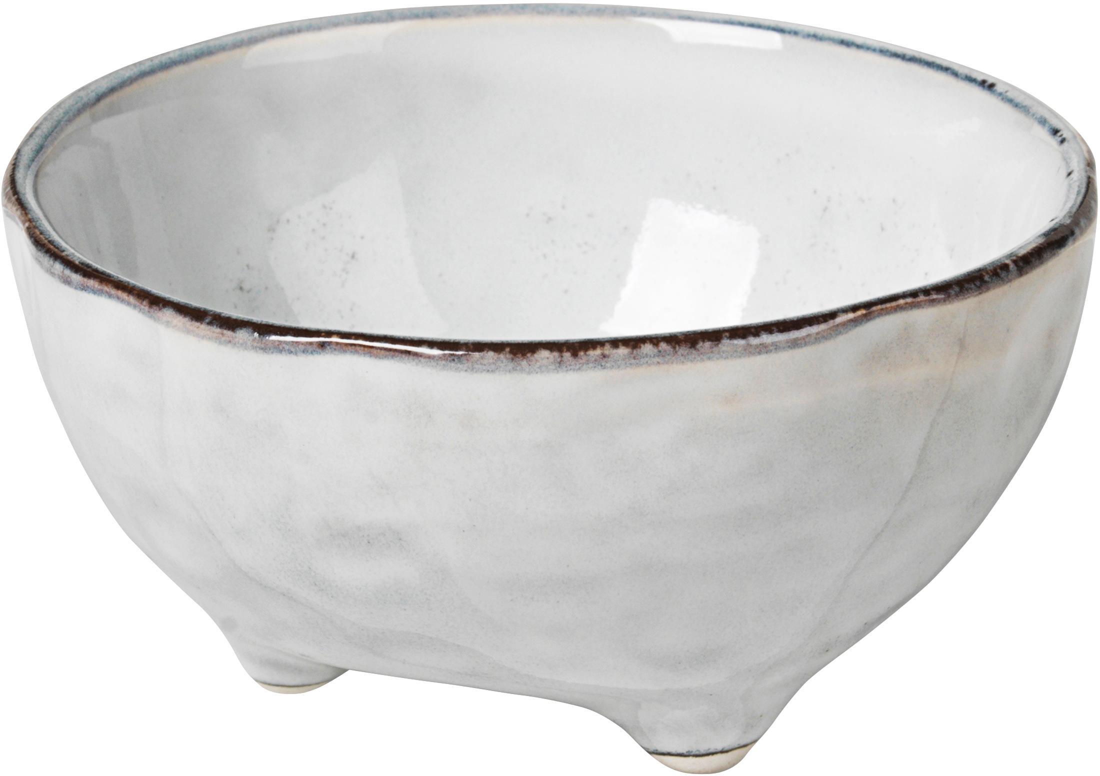 Ręcznie wykonana miska głęboka Nordic Sand, 4szt., Kamionka, Odcienie piaskowego, Ø 11 x W 6 cm