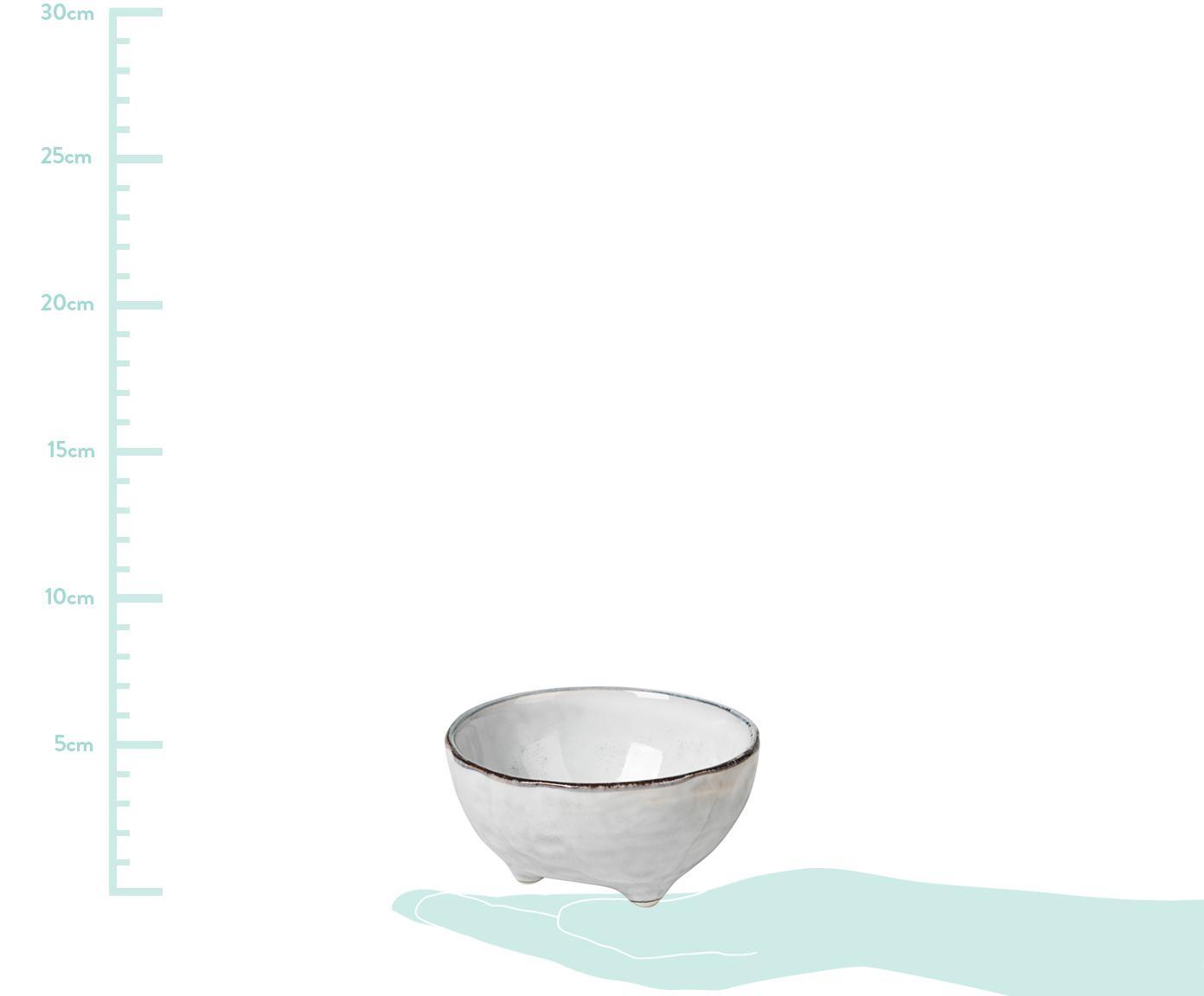 Handgemachte Dipschälchen Nordic Sand aus Steingut, 4 Stück, Steingut, Sandfarben, Ø 11 x H 6 cm