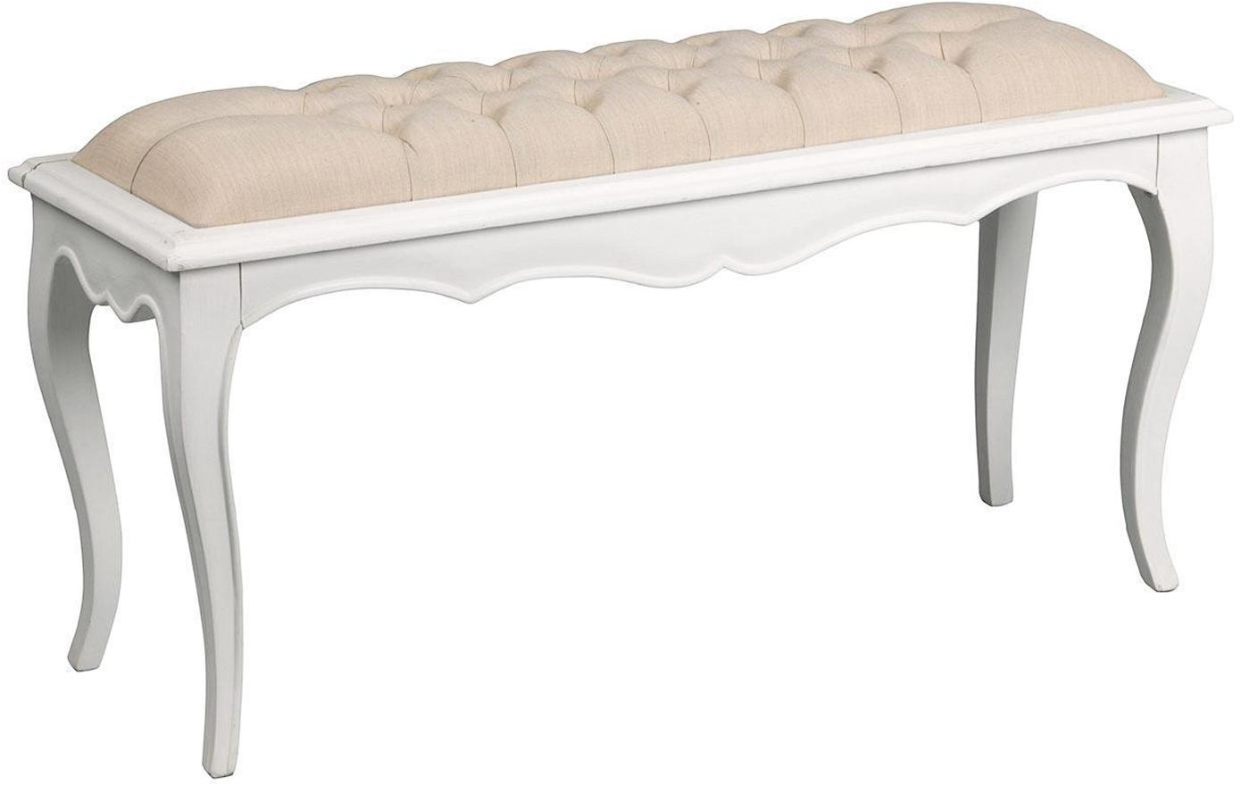 Banco Amandine, Blanco, beige, An 103 x Al 38 cm