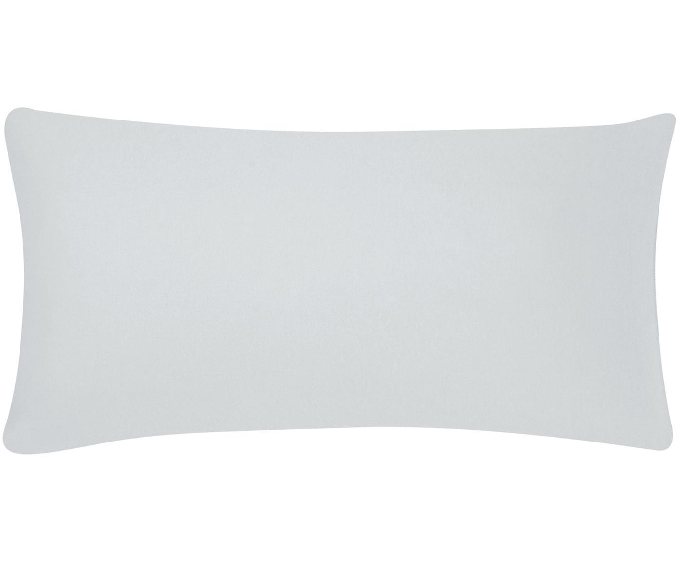 Poszewka na poduszkę z flaneli Biba, 2 szt., Jasny szary, S 40 x D 80 cm
