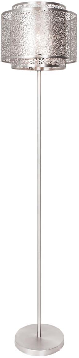 Lampada da terra Mesh, Nichel, Color nichel, Ø 34 x Alt. 157 cm