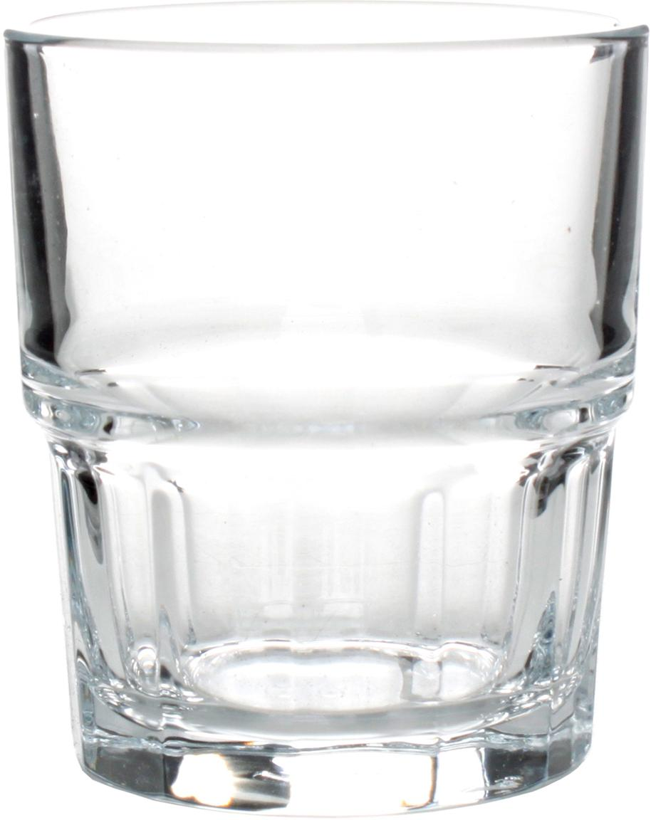 Stapelbare waterglazen Next, 12 stuks, Glas, Transparant, Ø 9 x H 10 cm