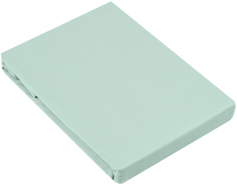 Spannbettlaken Comfort, Baumwollsatin, Webart: Satin, leicht glänzend, Salbeigrün, 180 x 200 cm