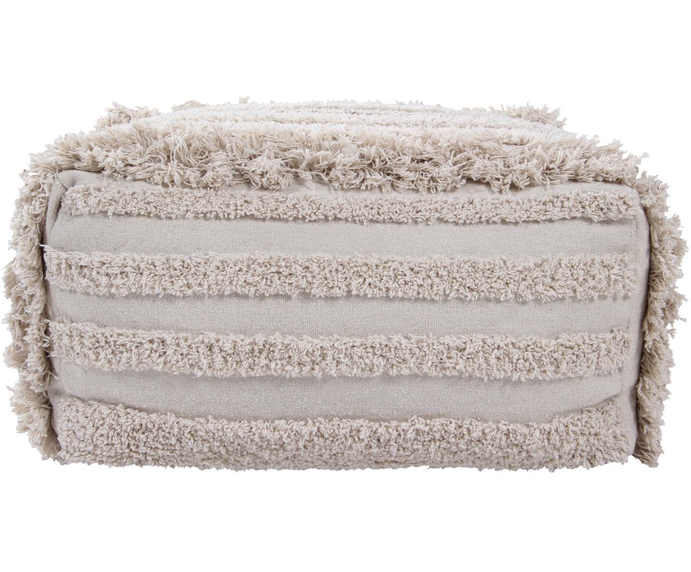 Cojín de suelo Boho Air, Funda: 90%algodón, 10%algodón , Beige, An 54 x Al 27 cm