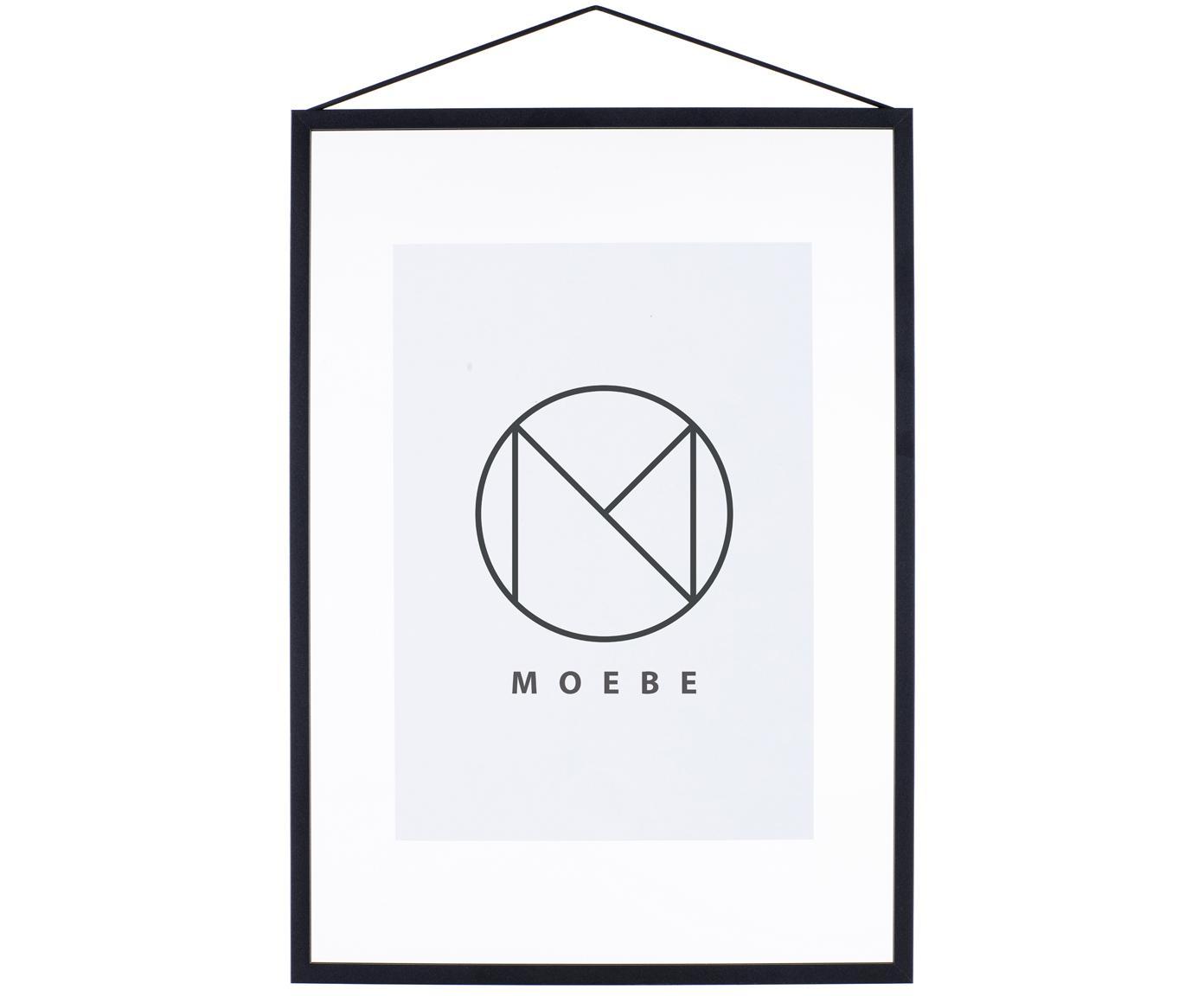 Fotolijst Frame, Frame: Aluminium, poedercoating, Frame: Zwart<br>Ophanging: Zwart<br>Voorkant en achterkant: Transparant, 32 x 44 cm