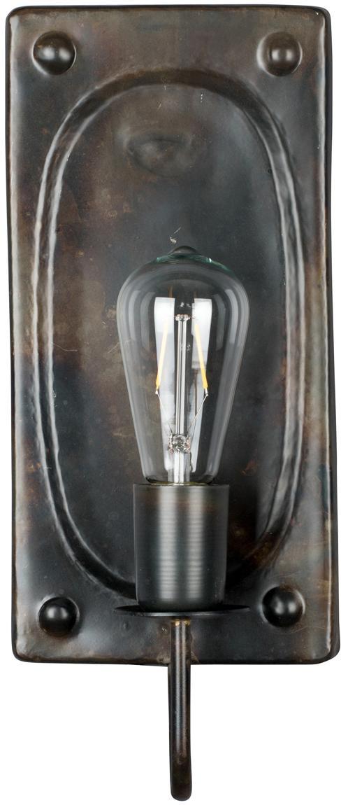 Kinkiet Brody, Ciemnobrązowy, S 16 x W 38 cm