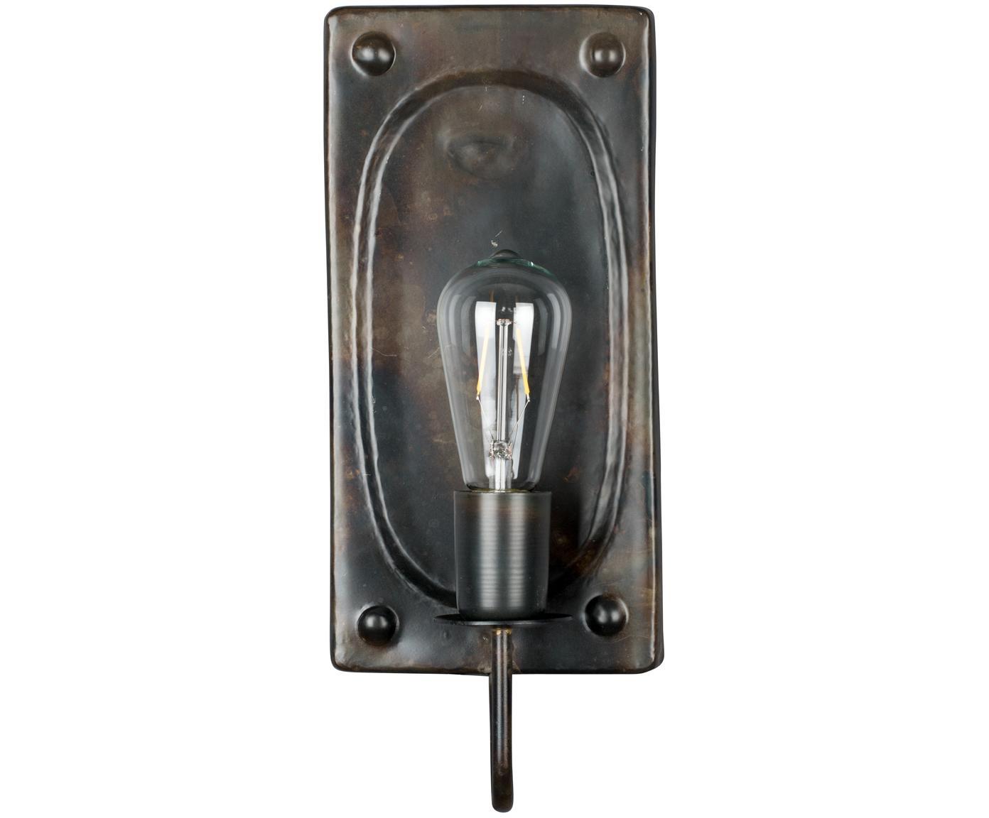 Aplique Brody, Fijación: metal con pintura en polv, Cable: cubierto en tela, Marrón oscuro, An 16 x Al 38 cm