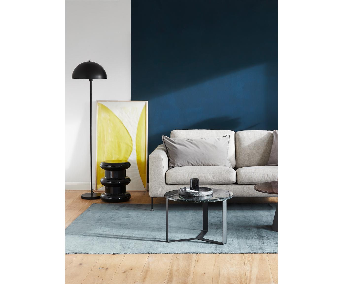Vloerlamp Matilda, Lampenkap: gepoedercoat metaal, Lampvoet: gepoedercoat metaal, Zwart, Ø 40 x H 164 cm