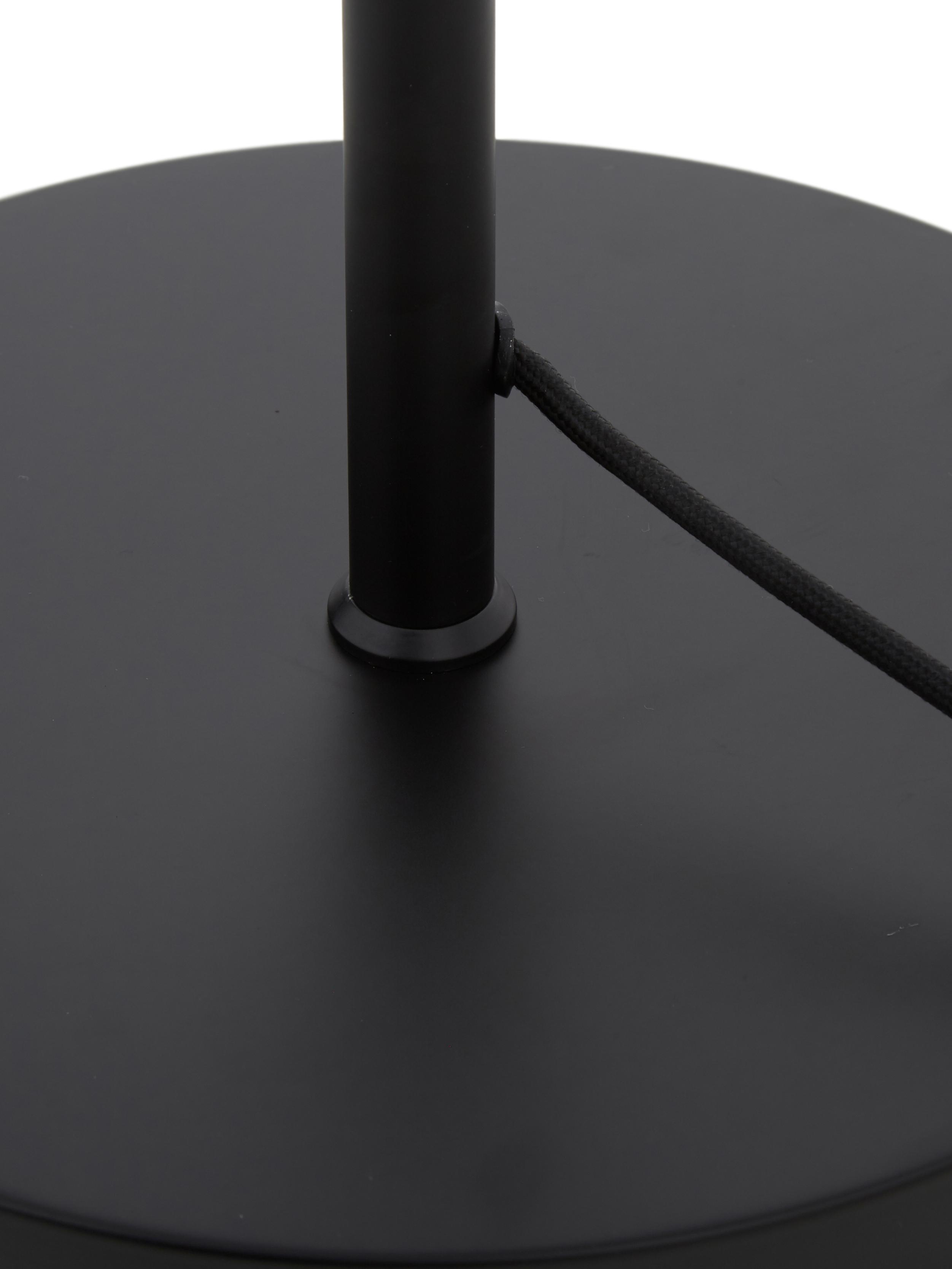 Stehlampe Matilda, Lampenschirm: Metall, pulverbeschichtet, Lampenfuß: Metall, pulverbeschichtet, Schwarz, Ø 40 x H 164 cm