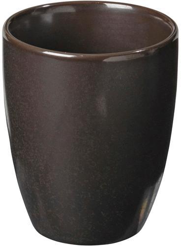 Tazza da caffè fatta a mano Esrum Night 4 pz, Terracotta smaltato, Marrone grigiastro lucido argenteo opaco, Ø 7 x Alt. 8 cm
