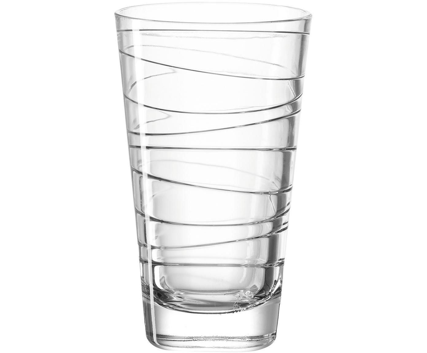 Bicchiere acqua Vario 6 pz, Vetro di soda-calce, Trasparente, Ø 8 x Alt. 13 cm