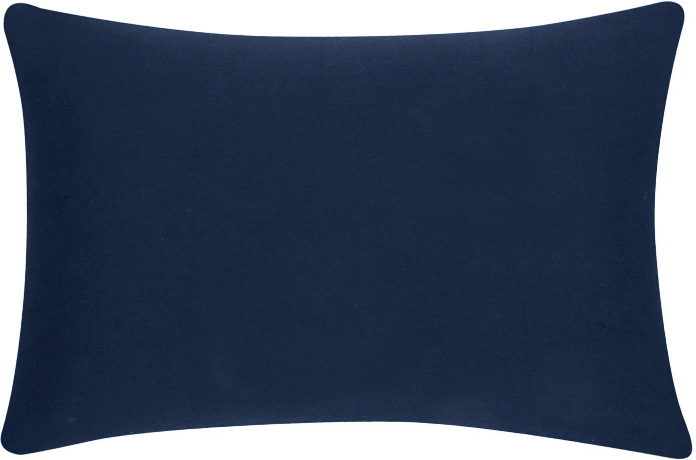 Federa arredo in cotone blu navy Mads, 100% cotone, Blu navy, Larg. 30 x Lung. 50 cm