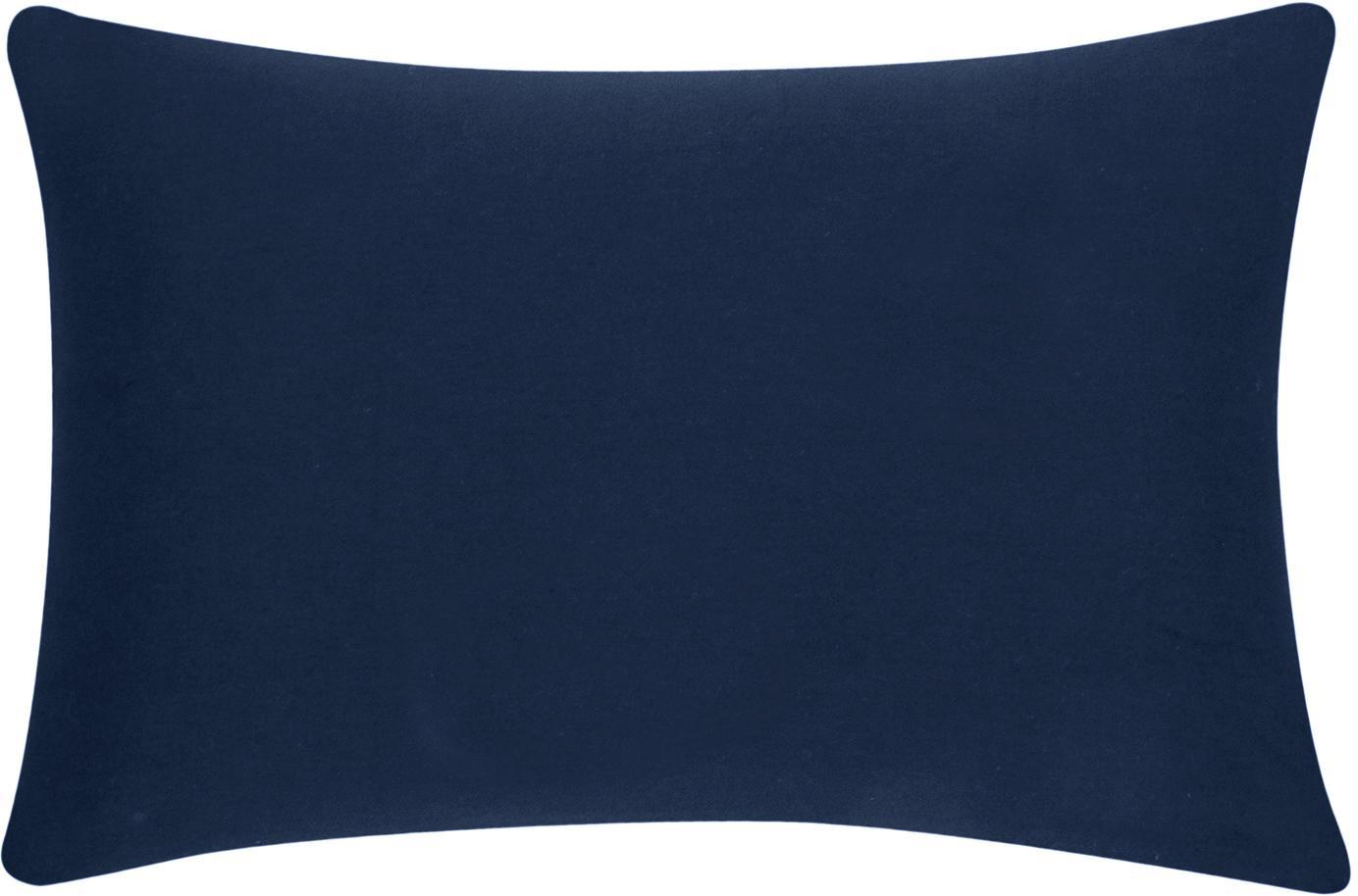 Funda de cojín de algodón Mads, 100%algodón, Azul marino, An 30 x L 50 cm