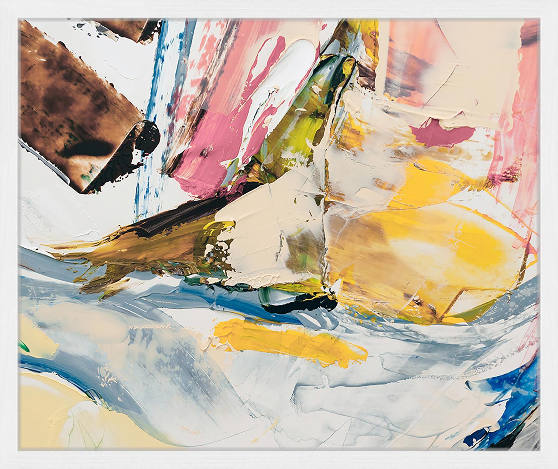 Oprawiony druk cyfrowy Abstract Art III, Wielobarwny, S 63 x W 53 cm