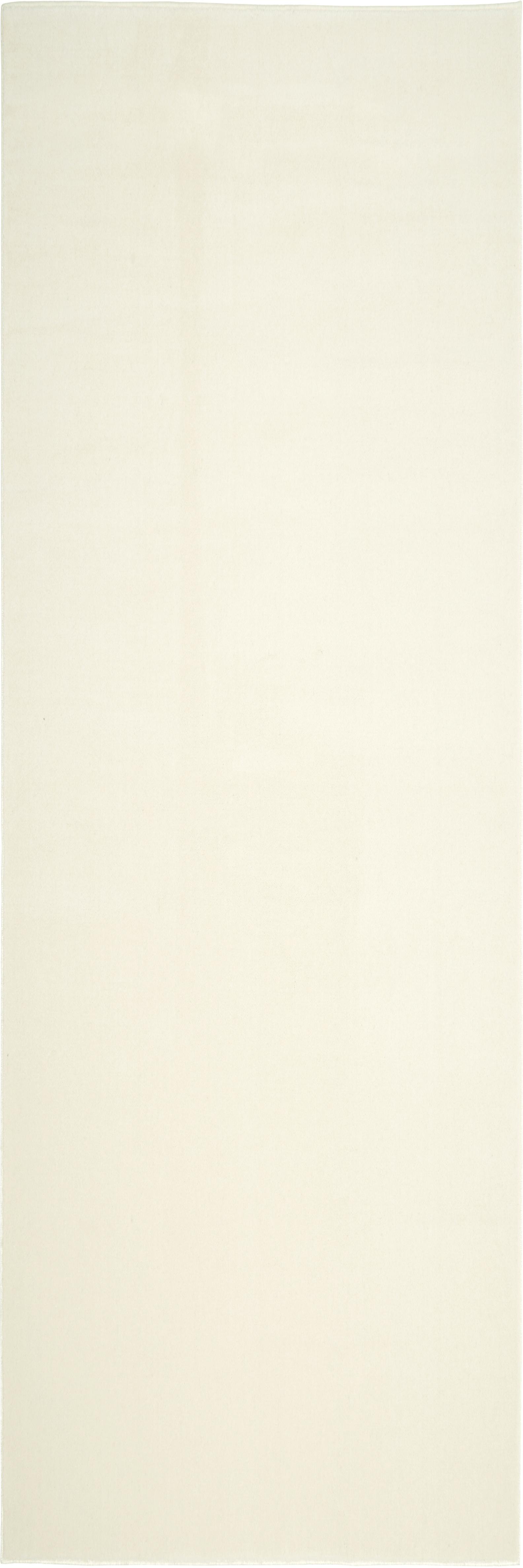 Passatoia in lana beige Ida, Vello: lana, Retro: poliestere, Beige, Larg. 80 x Lung. 250 cm