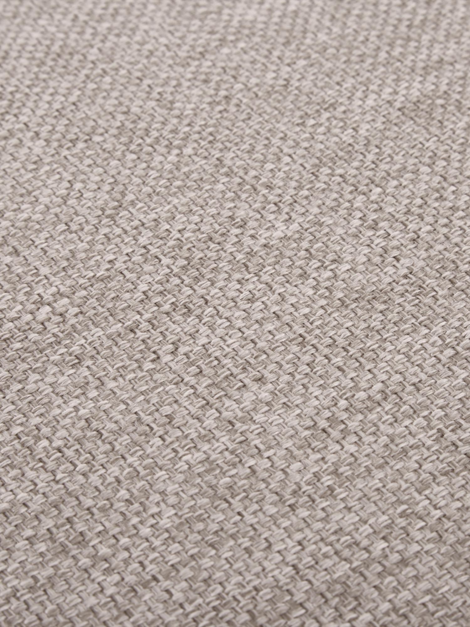 Sofa-Hocker Cucita mit Stauraum, Bezug: Webstoff (Polyester) Der , Gestell: Massives Kiefernholz, Füße: Metall, lackiert, Beige, 85 x 42 cm