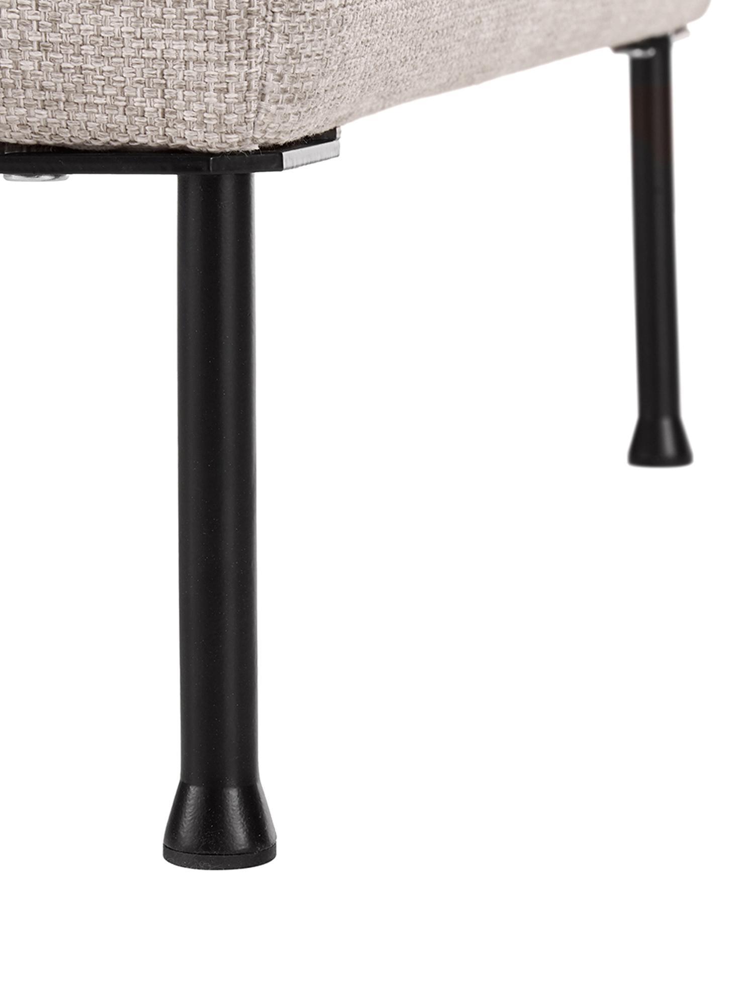 Puf z miejscem do przechowywania Cucita, Tapicerka: tkanina (poliester) Tkani, Stelaż: lite drewno sosnowe, Nogi: metal malowany proszkowo, Beżowy, S 85 x W 42 cm