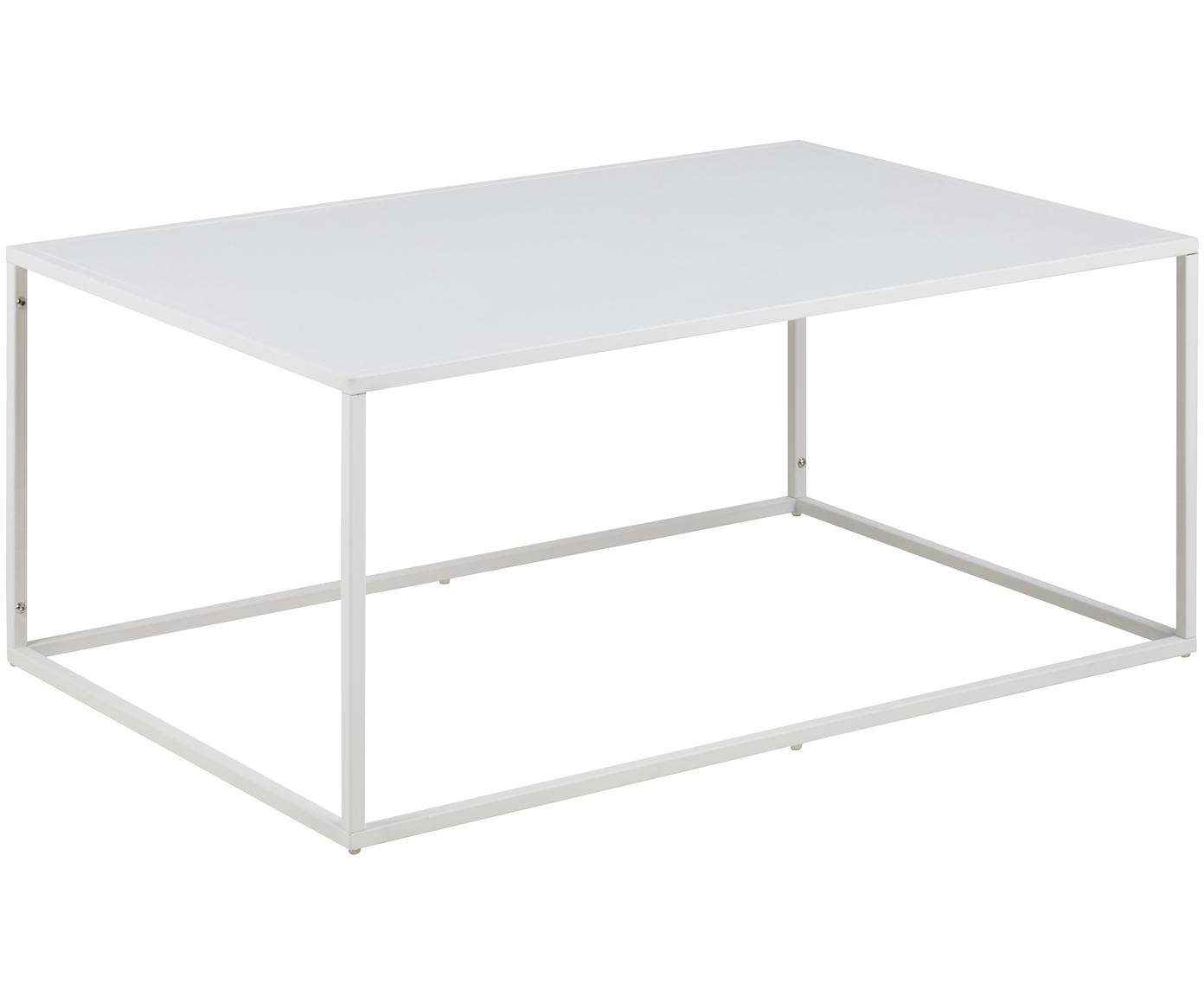 Tavolino da salotto in metallo bianco Newton, Metallo verniciato a polvere, Bianco, Larg. 90 x Prof. 60 cm