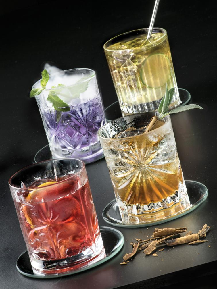 Bicchiere whiskey in cristallo Bichiera, set di 4, Cristallo, Trasparente, Ø 8 x Alt. 9 cm