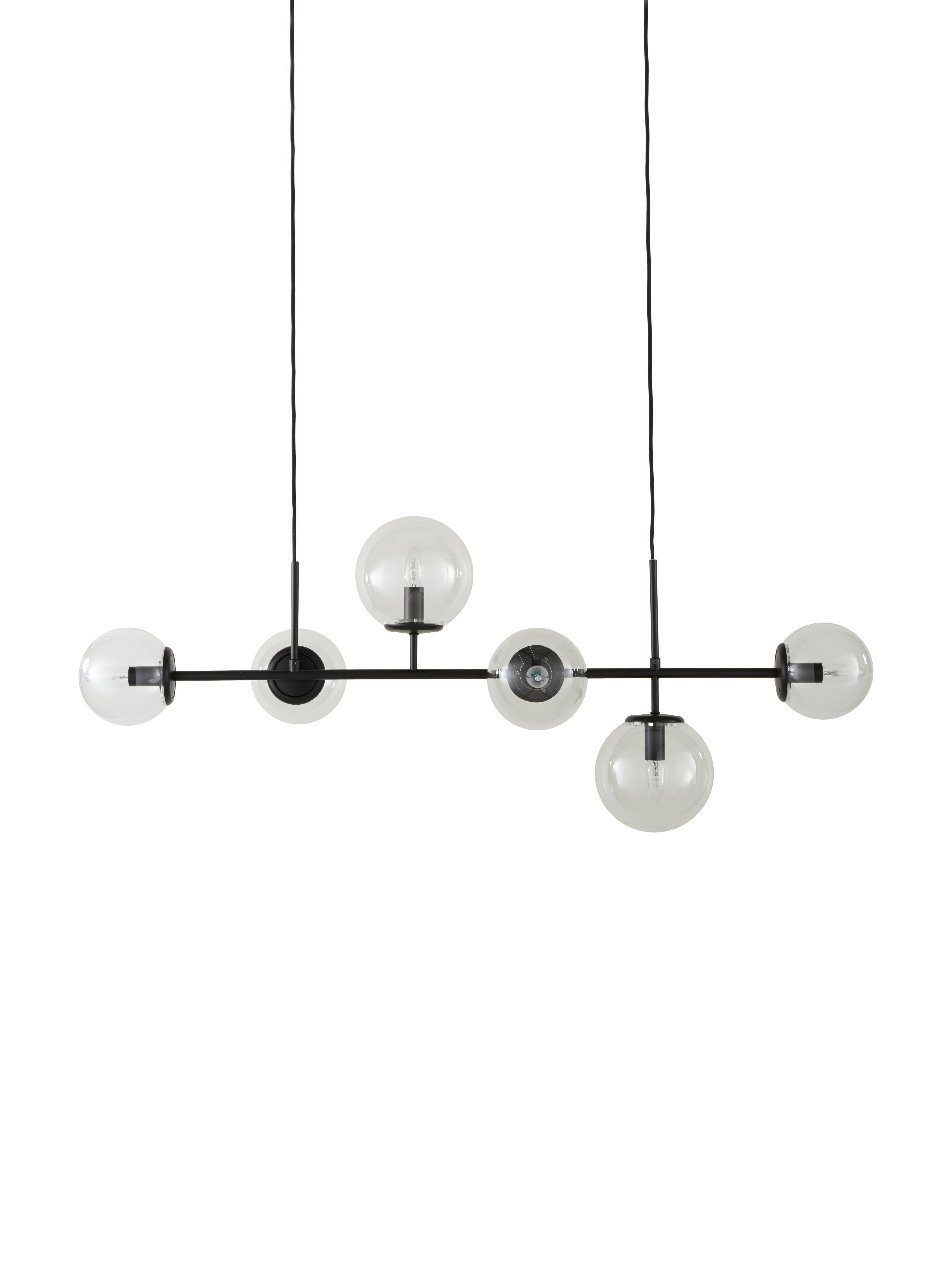 Hanglamp Casey, Zwart, 120 x 157 cm