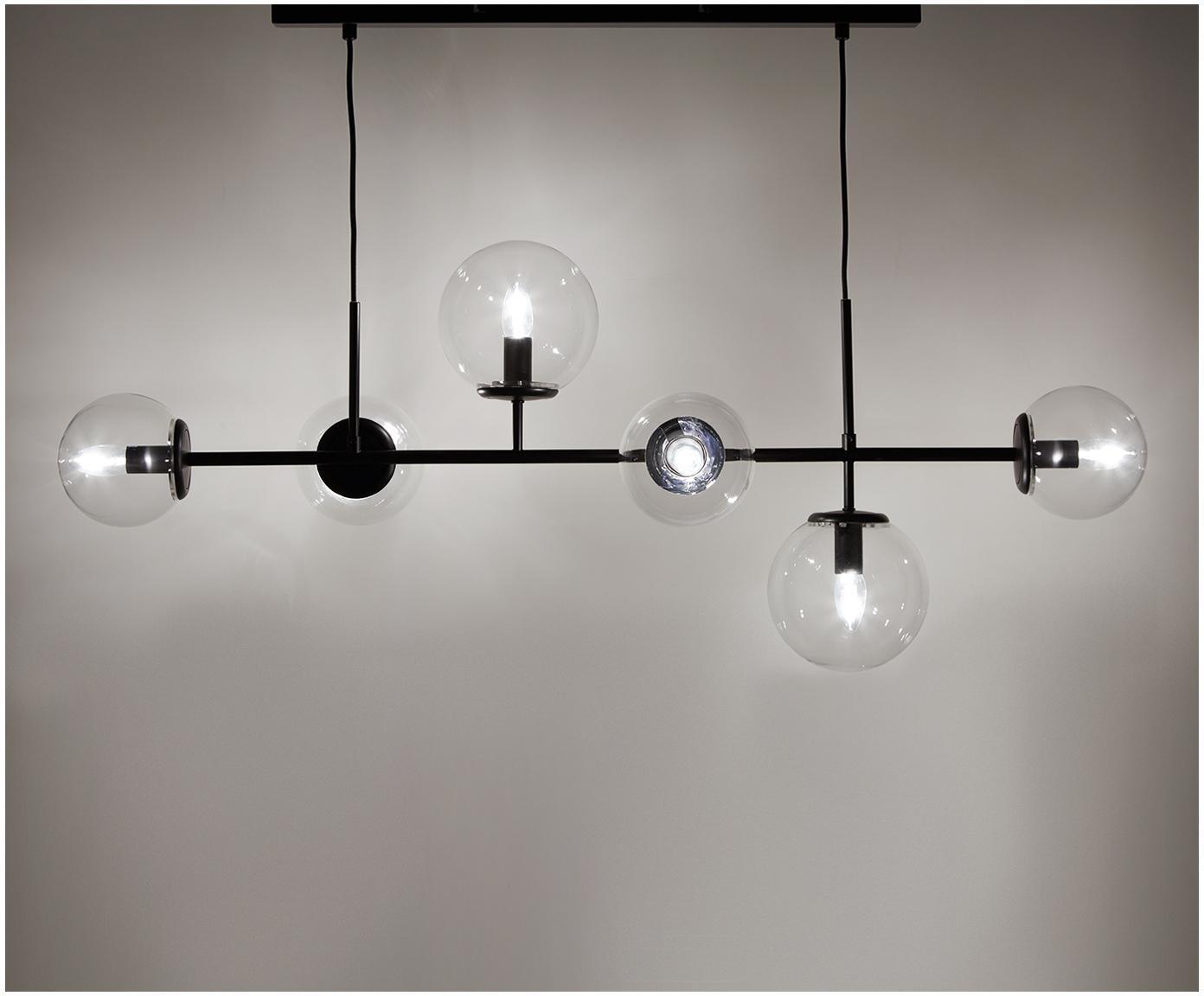 Duża lampa wisząca Casey, Czarny, S 120 x W 157 cm