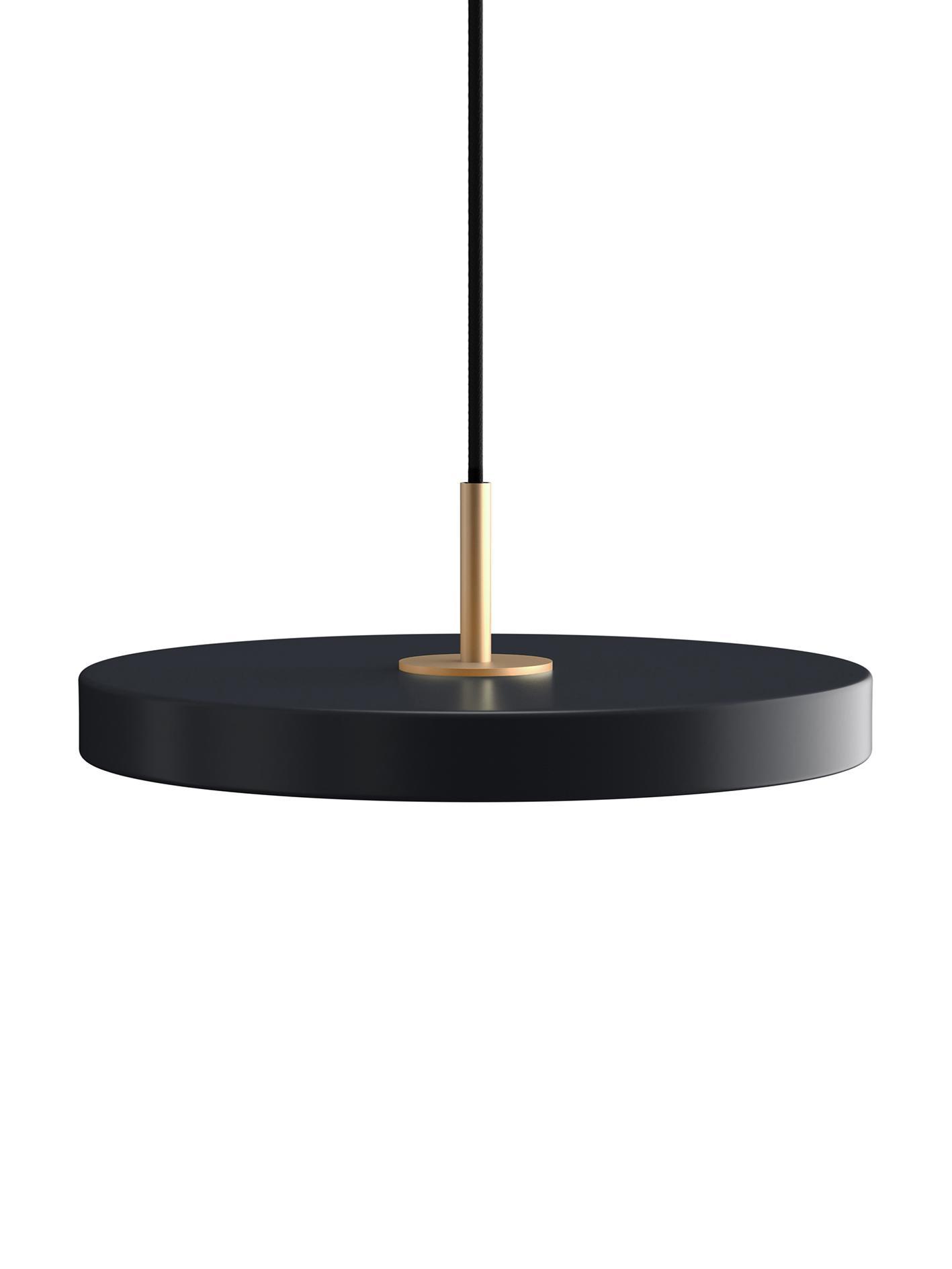 Design LED Pendelleuchte Asteria, Lampenschirm: Aluminium, lackiert, Anthrazit, Ø 43 x H 15 cm
