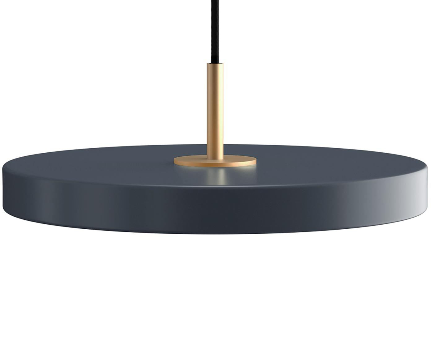 Design LED hanglamp Asteria, Lampenkap: gelakt aluminium, Antraciet, Ø 31 x H 14 cm