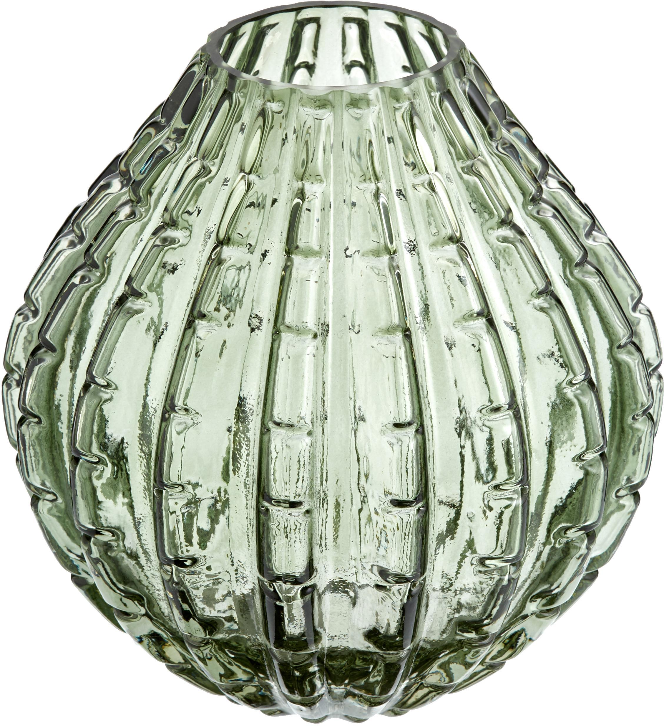 Wazon ze szkła Lioba, Szkło, Zielony, Ø 15 x W 17 cm