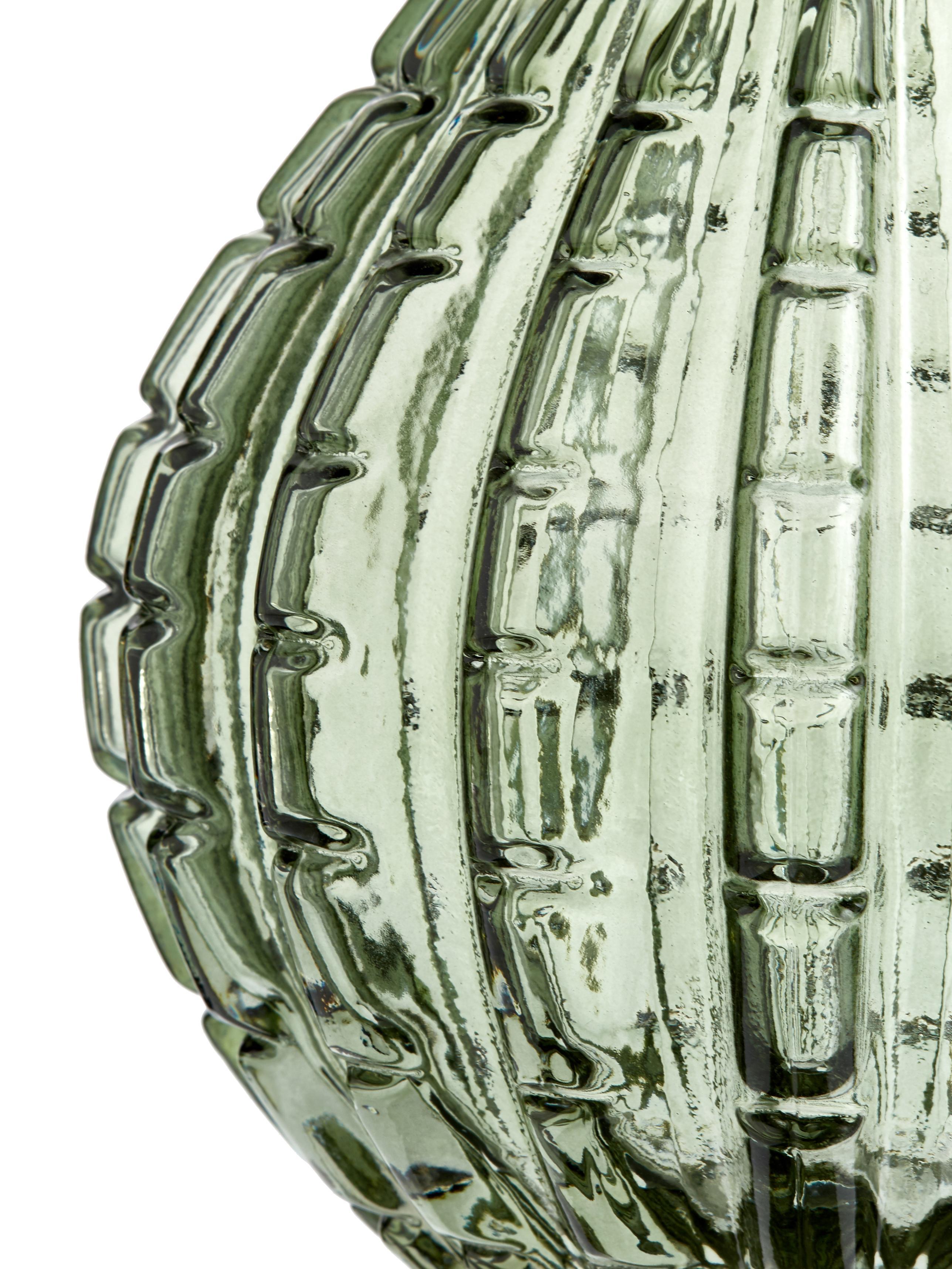 Jarrón de vidrio Lioba, Vidrio, Verde, Ø 15 x Al 17 cm