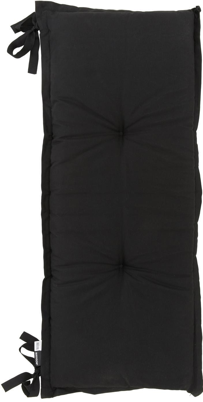 Effen bankkussen Panama, 50% katoen, 45% polyester, 5% andere vezels, Zwart, 48 x 120 cm