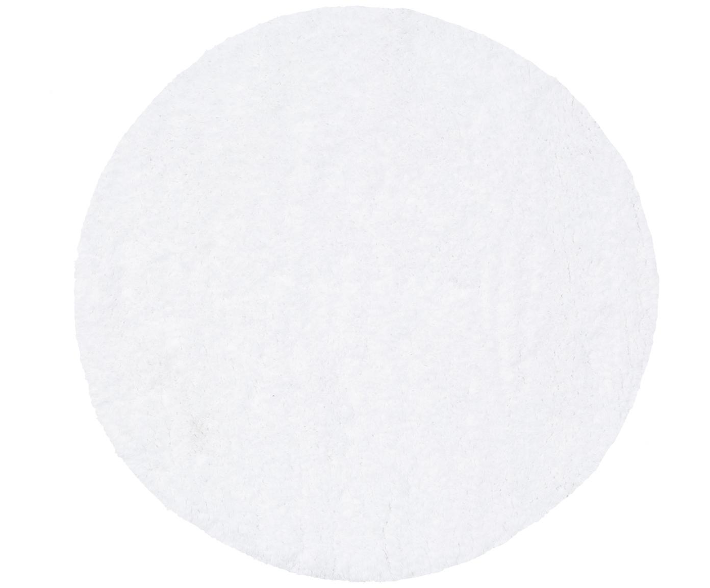 Alfombrilla de baño pequeña Luna, Blanco, Ø 60 cm