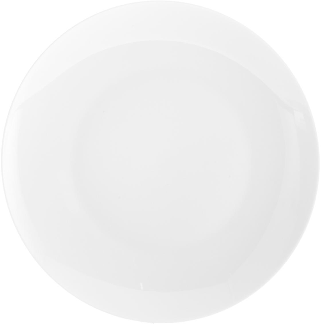 Platos llanos de porcelana Delight Modern, 2uds., Porcelana, Blanco, Ø 27 cm