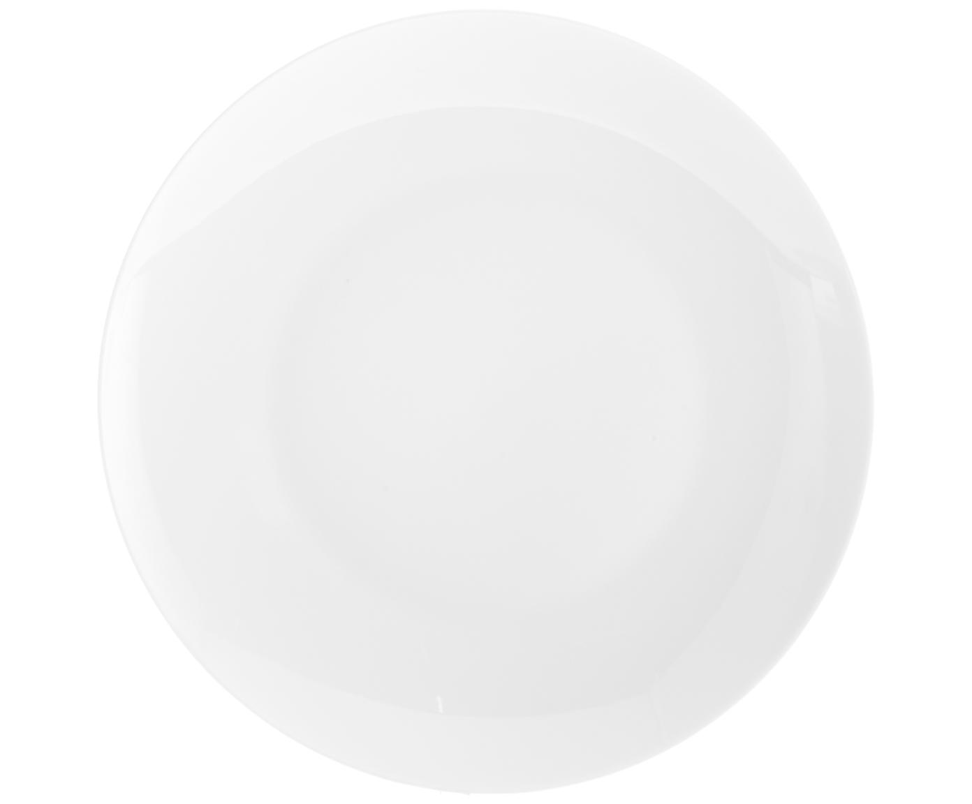 Porzellan-Speiseteller Delight Modern in Weiss, 2 Stück, Porzellan, Weiss, Ø 27 cm
