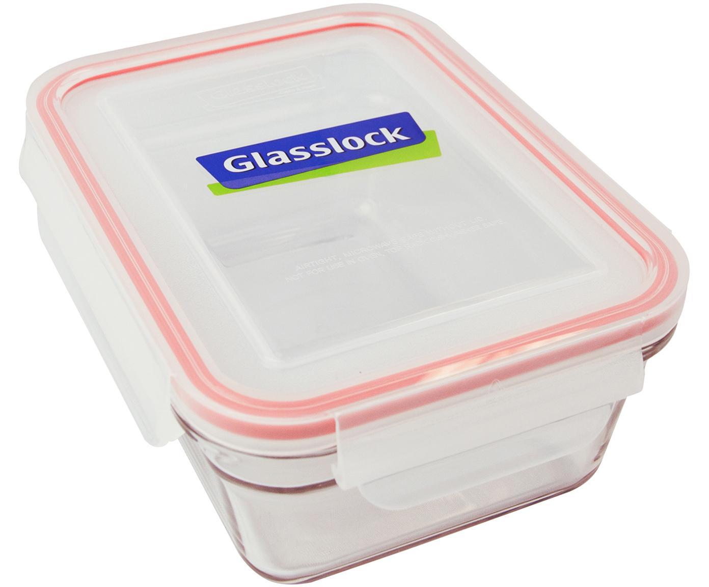 Pudełko do przechowywania żywności Bea, 2 szt., Transparentny, blady różowy, S 18 x W 7 cm