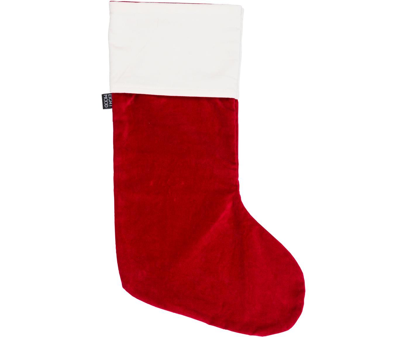 Skarpeta świąteczna  Veronica, Bawełna, Czerwony, biały, S 25 x W 45 cm