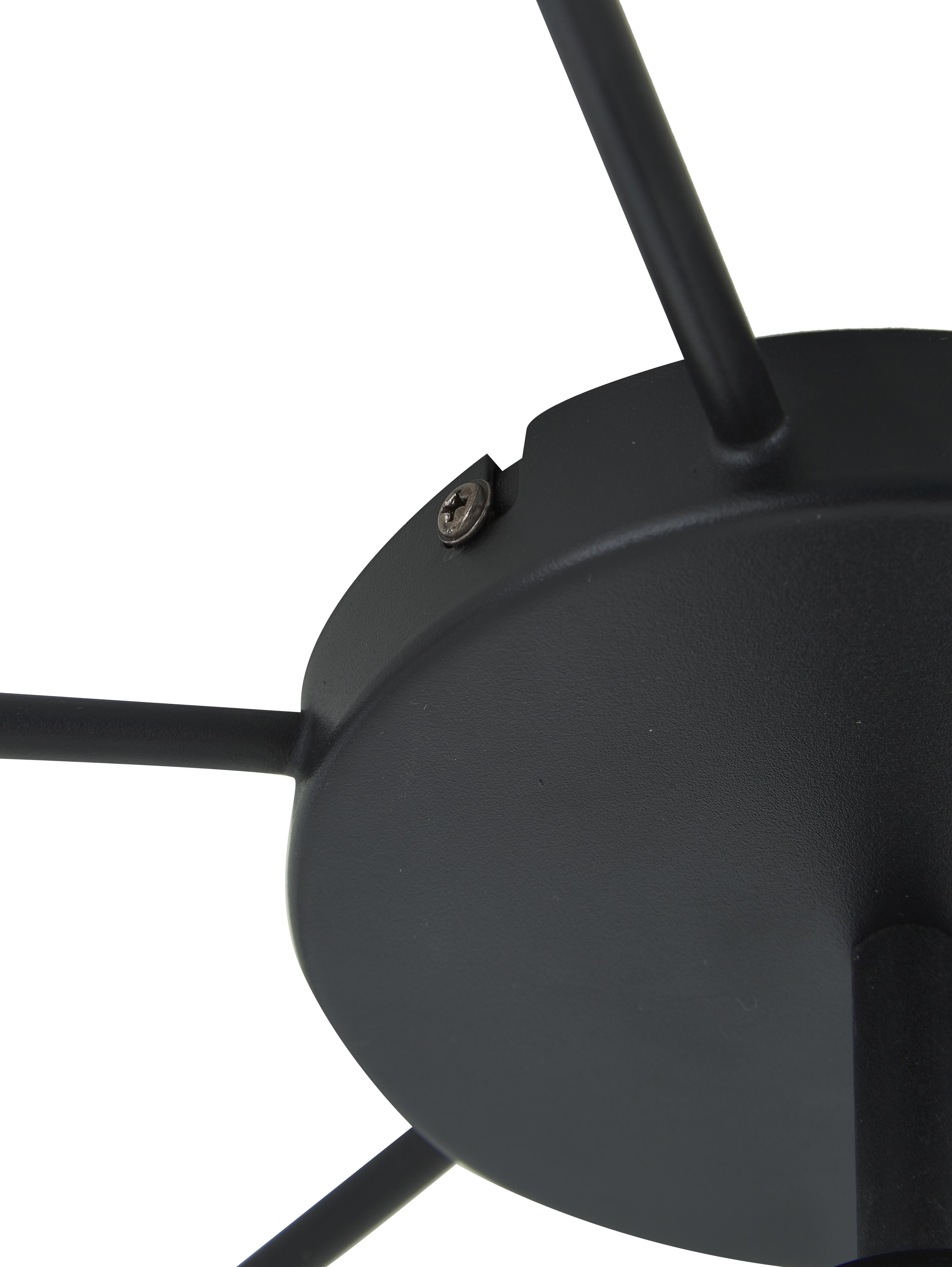 Grand plafonnier noir Staiti, Noir