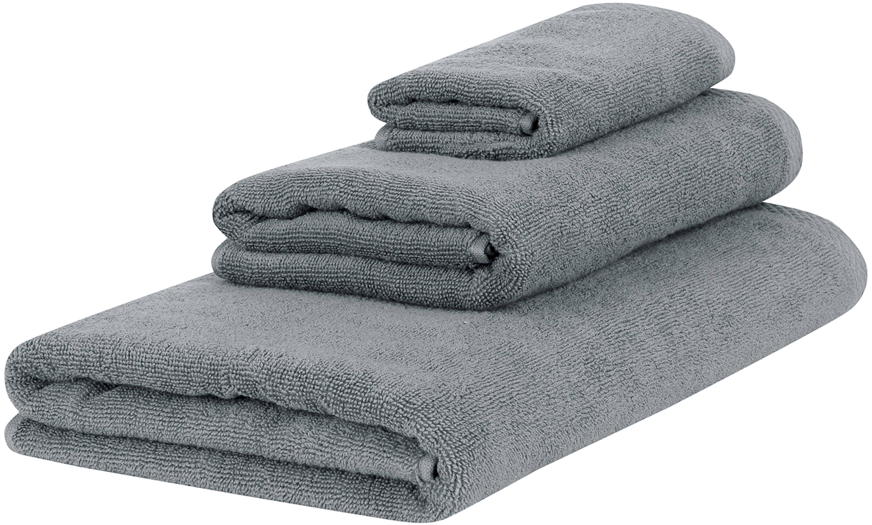 Komplet ręczników Comfort, 3 elem., Ciemny szary, Różne rozmiary