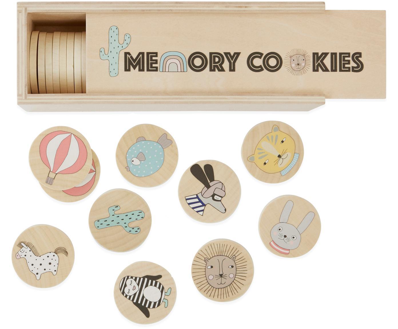 Juego de memoria Cookies, 37pzas., Chapa de madera de abedul estampada, Madera, multicolor, An 23 x Al 7 cm