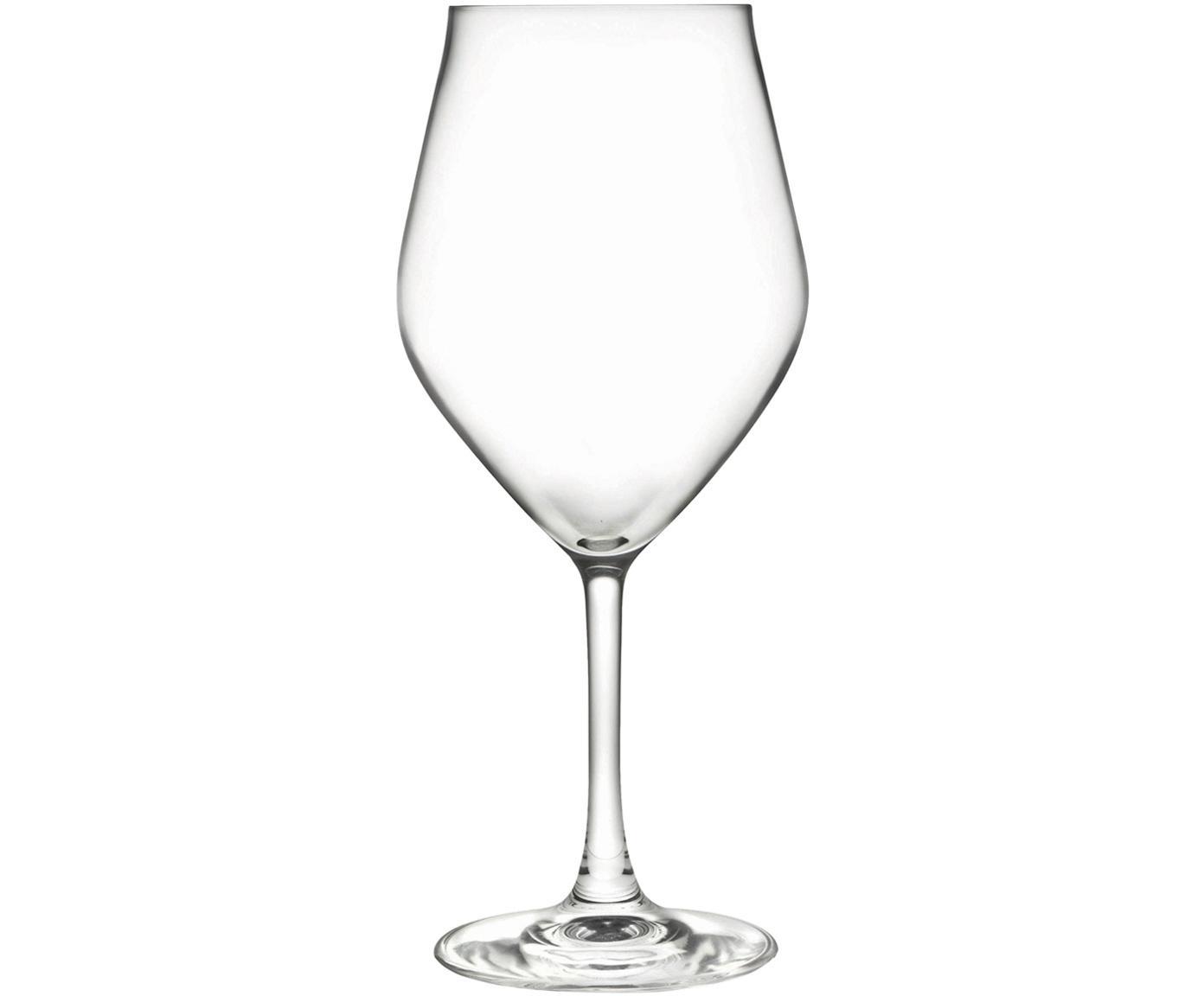 Bicchiere da vino bianco in cristallo Eno 6 pz, Cristallo Luxion, Trasparente, Ø 10 x Alt. 22 cm