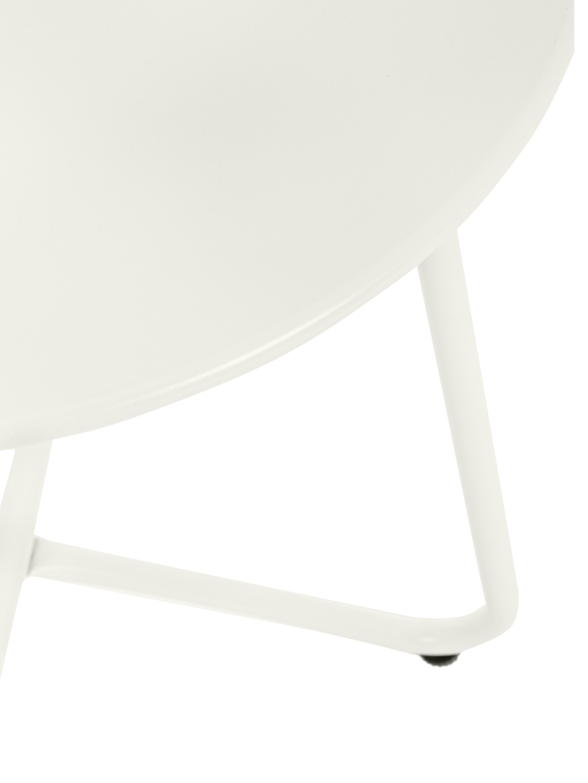 Bijzettafel Wissant, Gepoedercoat staal, Wit, Ø 40 x H 45 cm
