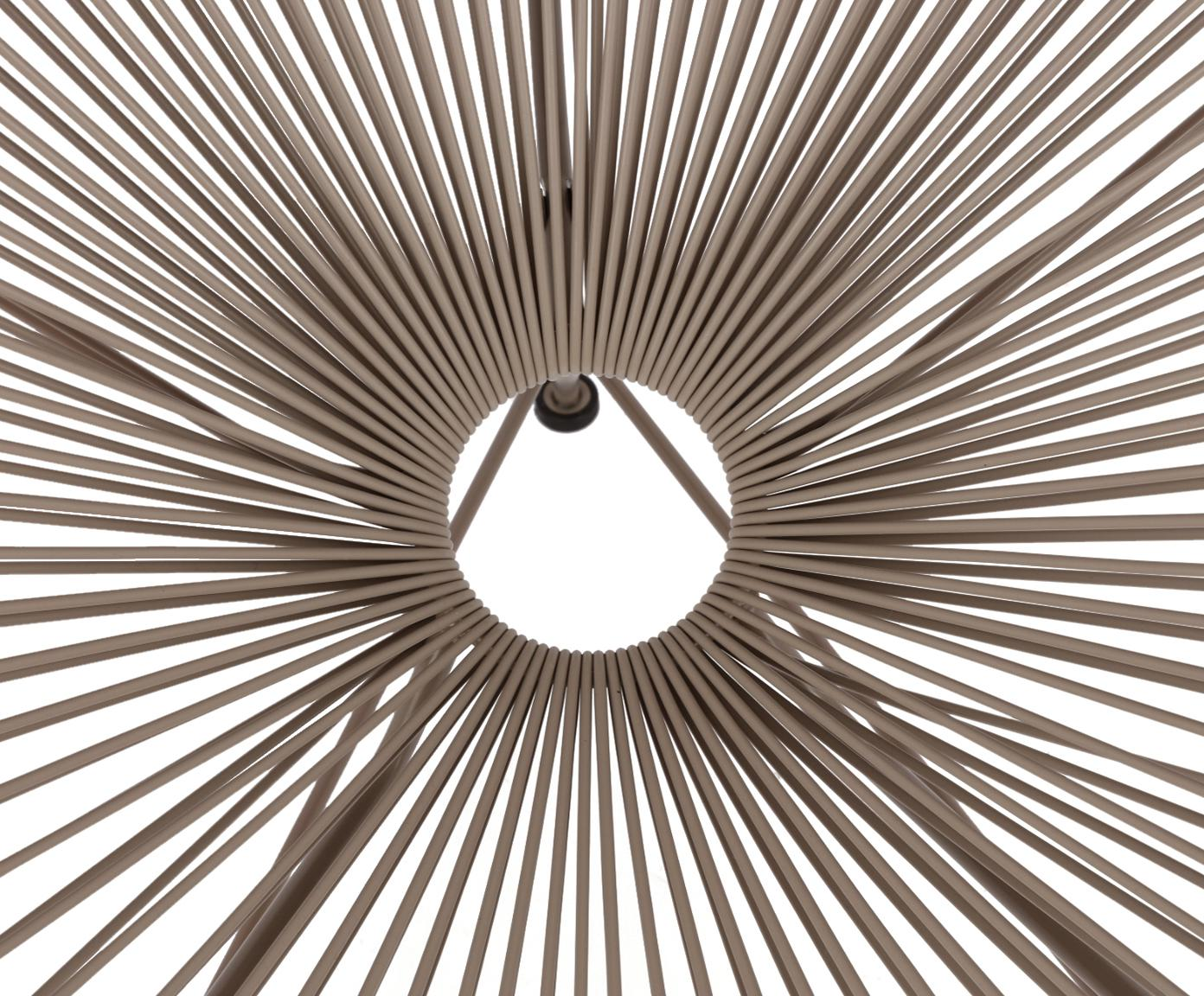 Fauteuil acapulco en plastique tressé Bahia, Plastique: taupe Structure: taupe