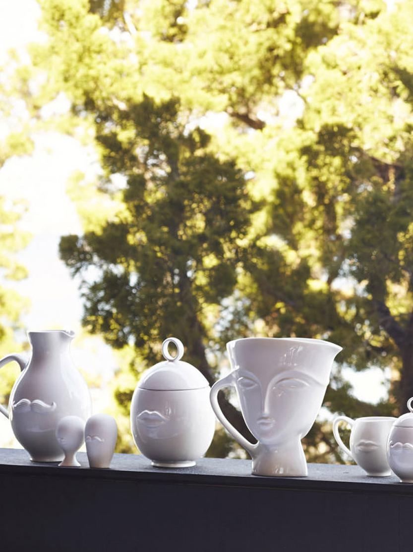 Tappi per bottiglia Muse 2 pz, Ceramica, Bianco, Ø 6 x Alt. 13 cm