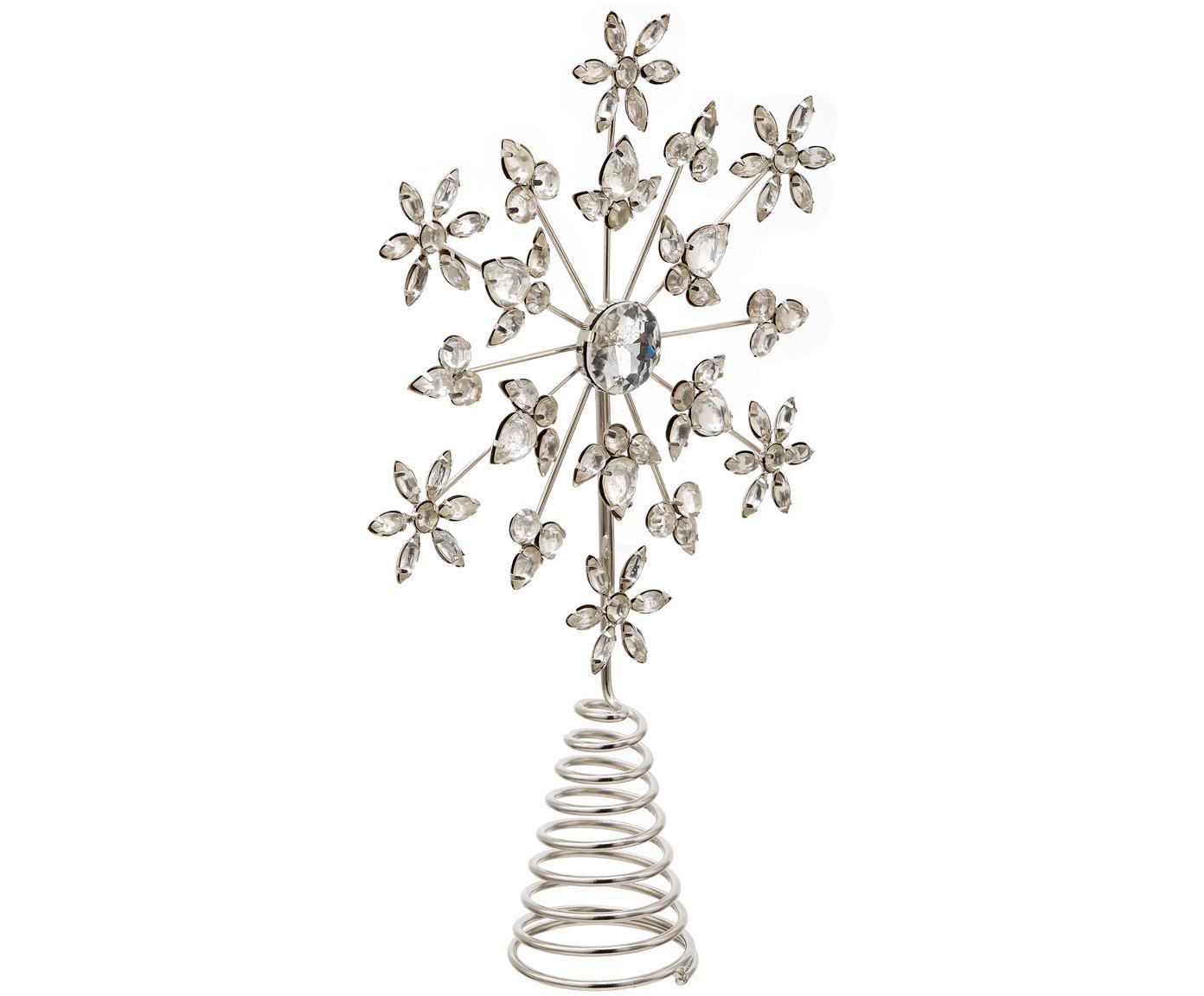 Weihnachtsbaumspitze Juwel, Gestell: Metall, beschichtet, Silberfarben, 18 x 29 cm
