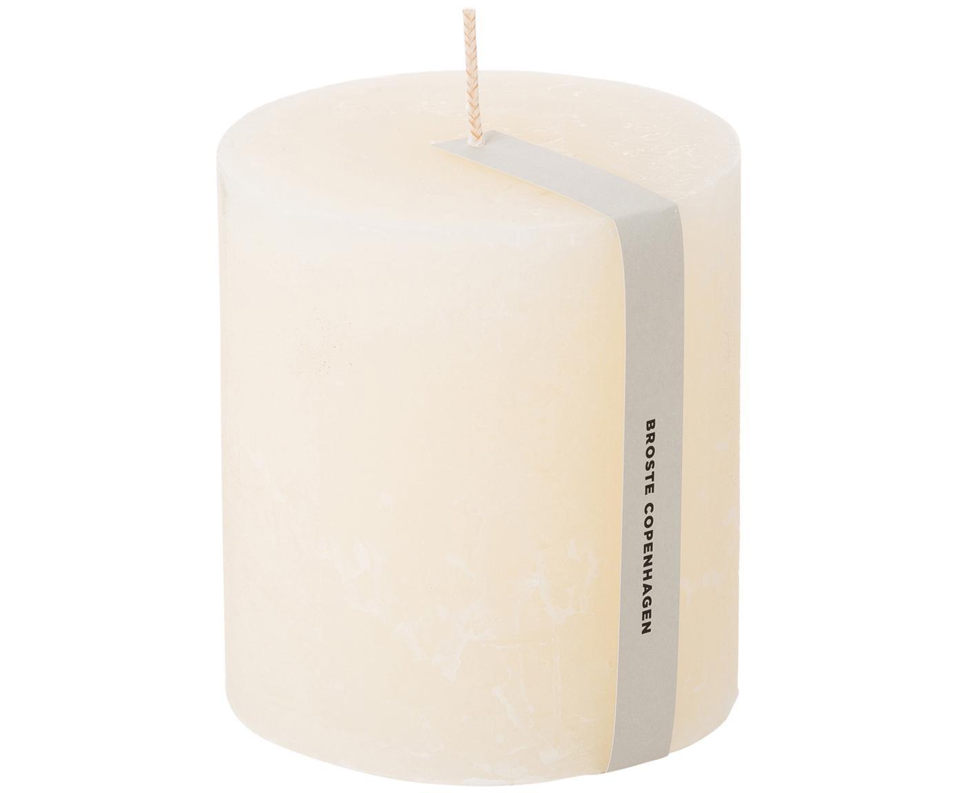 Candela decorativa bianca Rustic, Paraffina, Bianco, Ø 10 x Alt. 11 cm
