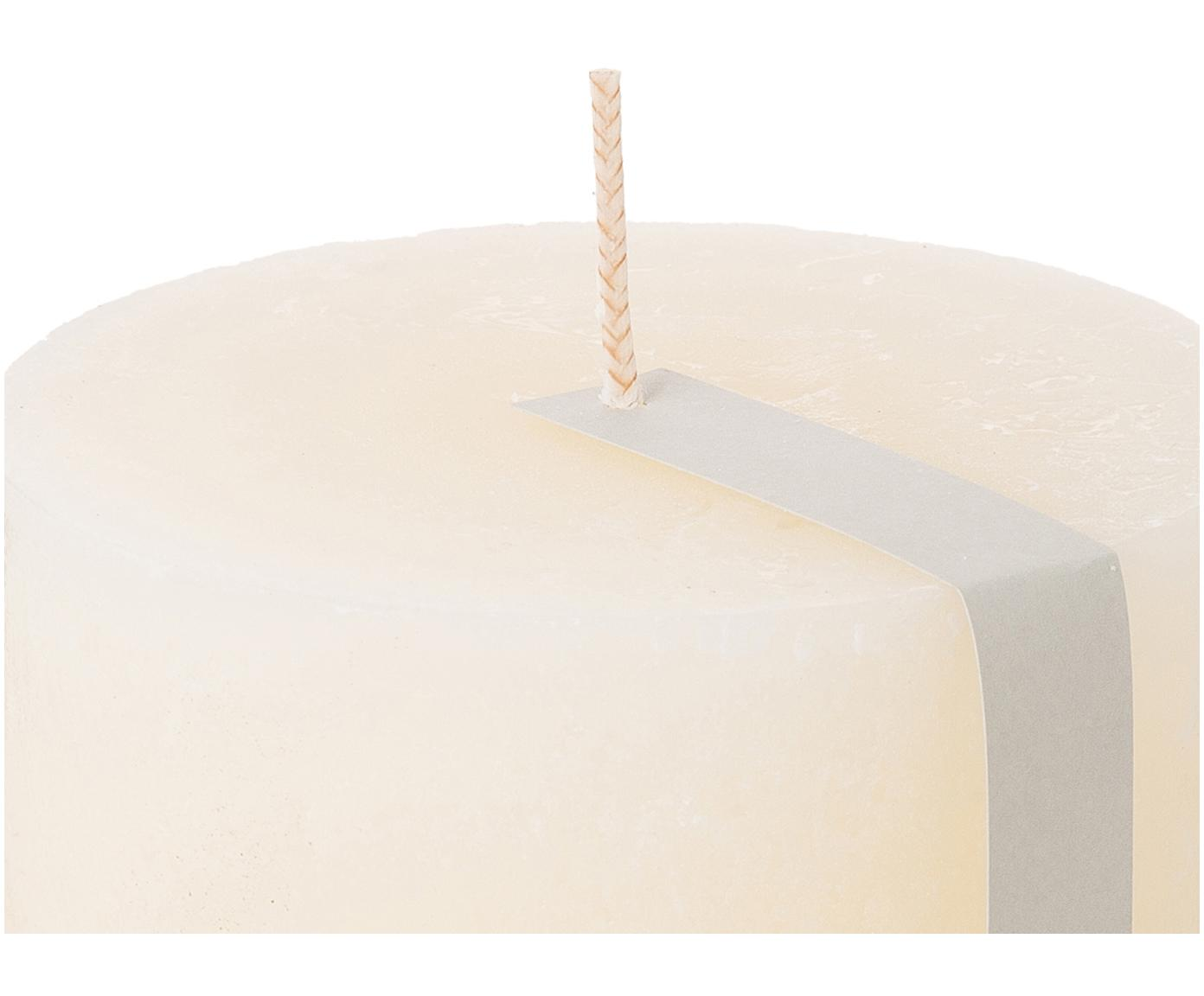 Świeca pieńkowa Rustic, Parafina, Biały, Ø 10 x W 11 cm