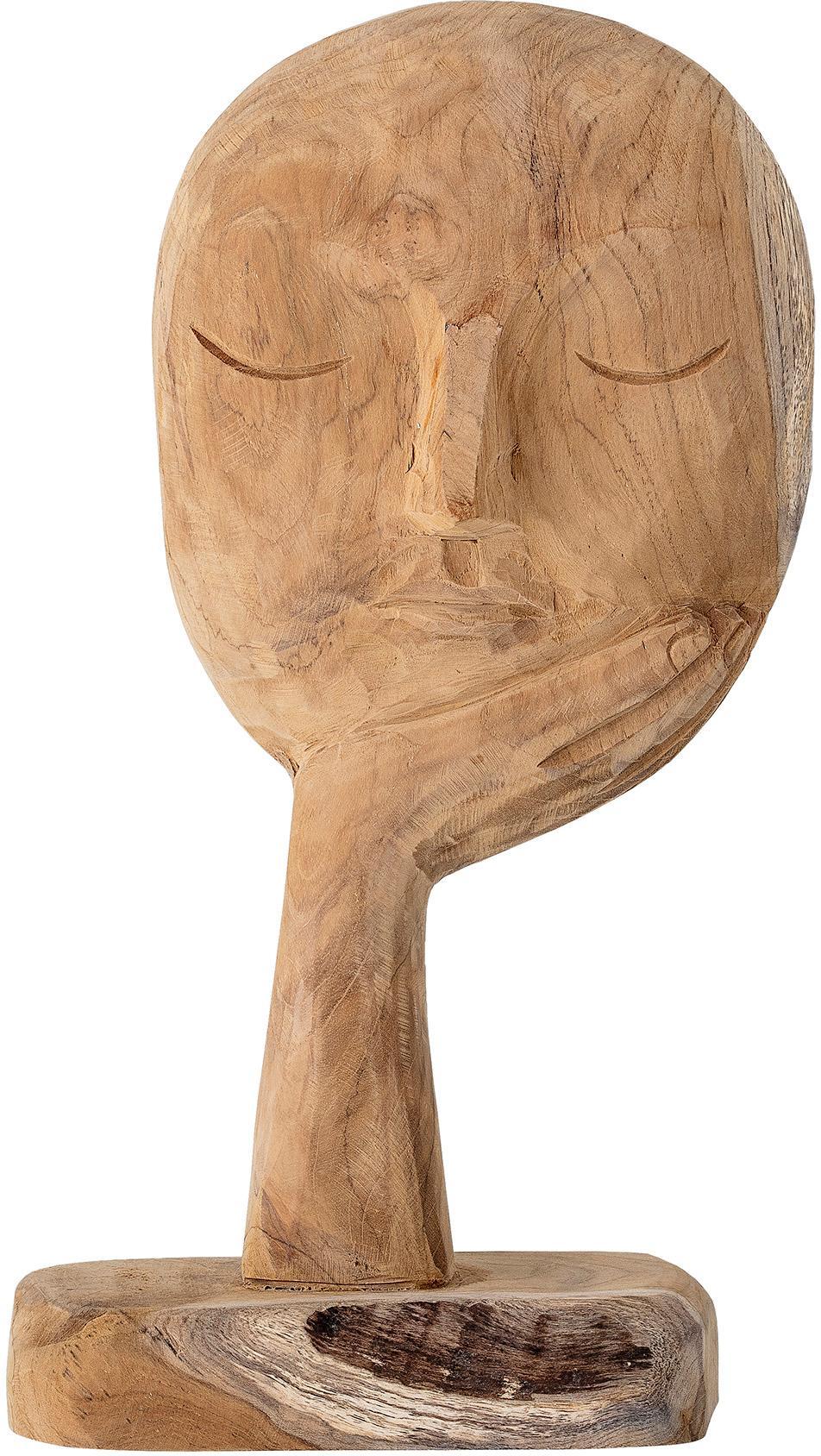 Figura decorativa artesanal Thought, Madera reciclada, Madera, An 18 x Al 35 cm