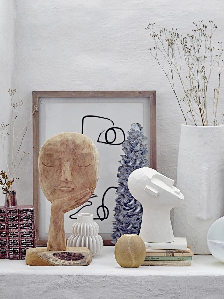 Oggetto decorativo fatto a mano Thought, Legno riciclato, Legno, Larg. 18 x Alt. 35 cm