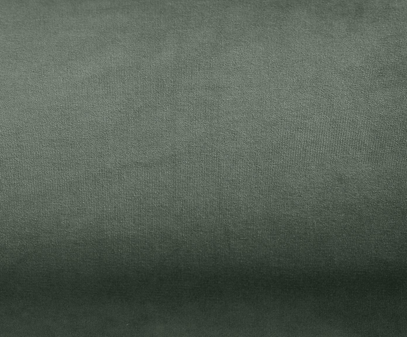 Samt-Ottomane Fluente, Bezug: Samt (Hochwertiger Polyes, Gestell: Massives Kiefernholz, Füße: Metall, lackiert, Samt Grün, B 201 x T 83 cm