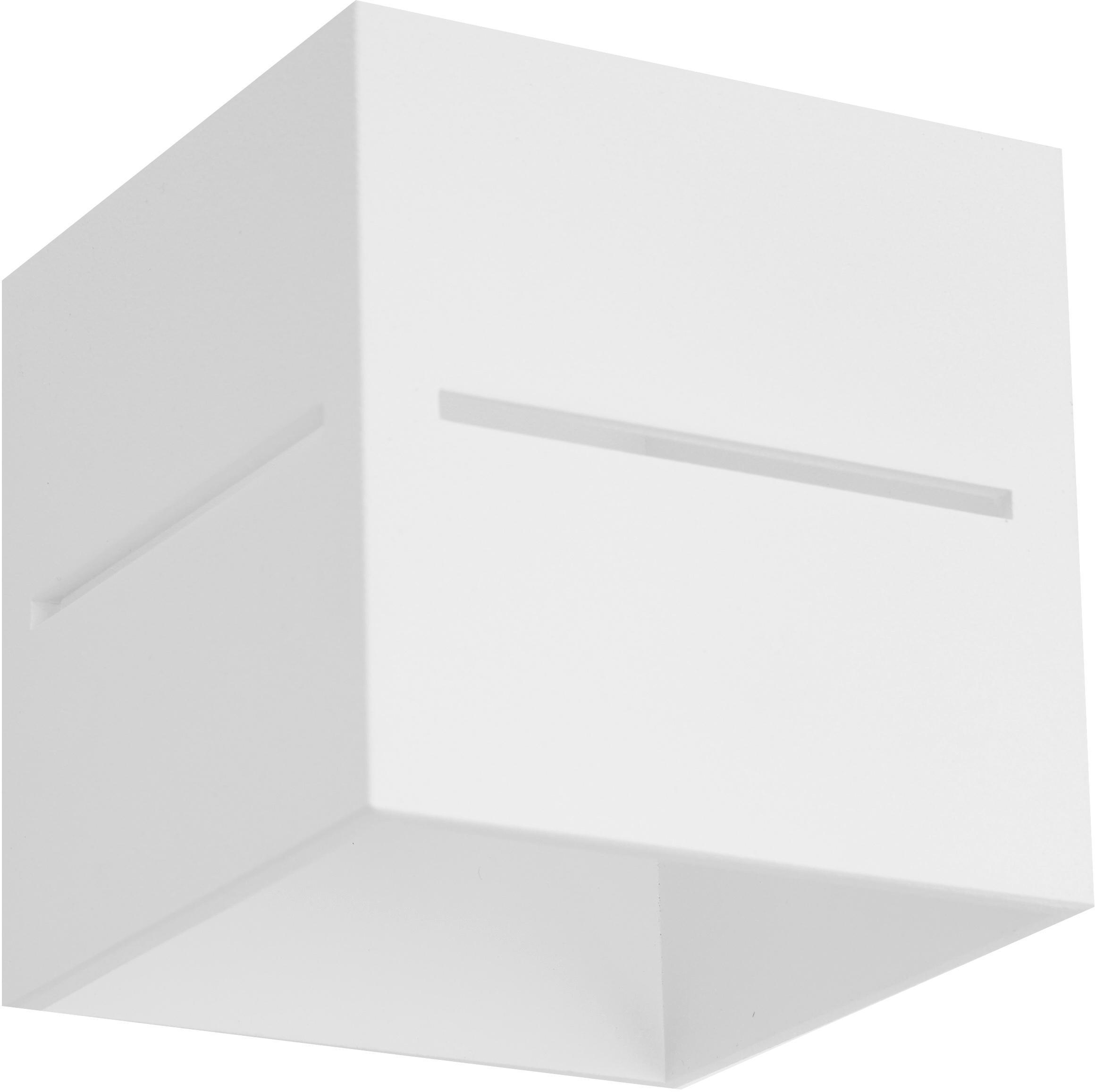 Wandleuchte Lorum, Aluminium, Weiß, 10 x 10 cm