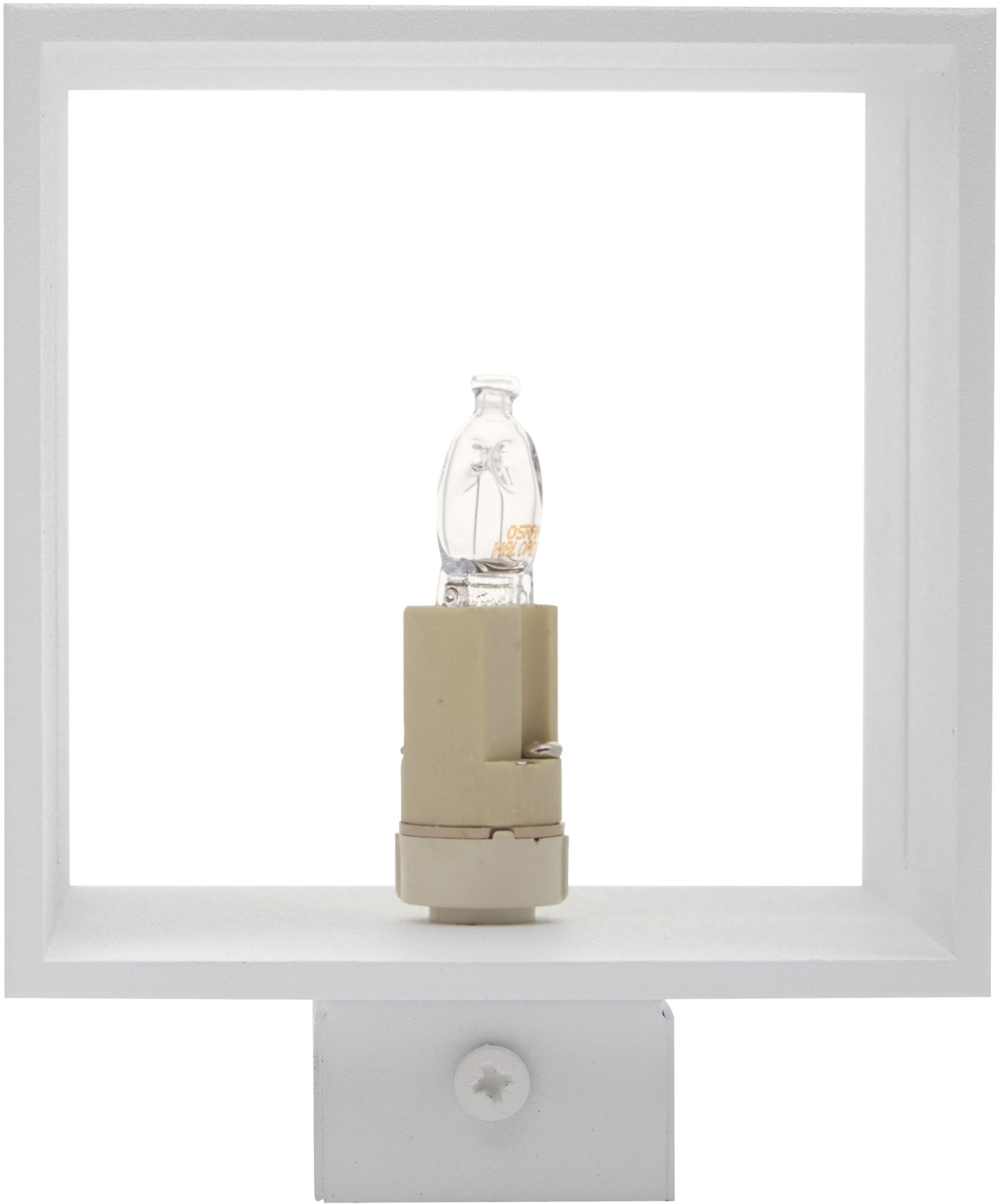 Applique Lorum, Alluminio, Bianco, Larg. 10 x Alt. 10 cm
